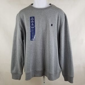 NWT IZOD Men's Crewneck Gray Sweater Size L